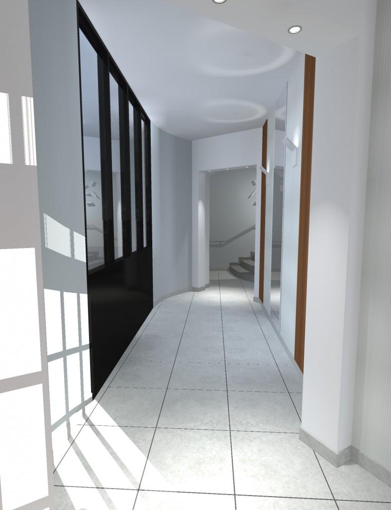 Hall Entrée Immeuble -Piste 1- Galerie des Glaces Nantes Centre Ville