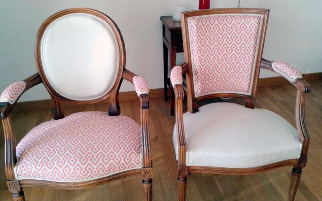 Détail de fauteuil par Amélie Beaumont, Décoratrice UFDI à Nantes et Pays de Loire 44