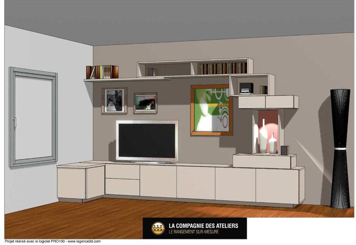 Simulation 3D par Amélie Beaumont, Décoratrice UFDI à Nantes et Pays de Loire 44