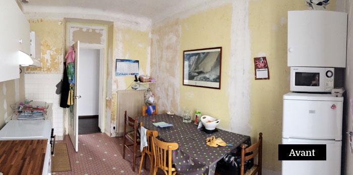 Rénovation de la cuisine d'une maison nantaise par Amélie Beaumont, Décoratrice UFDI à Nantes 44 : avant
