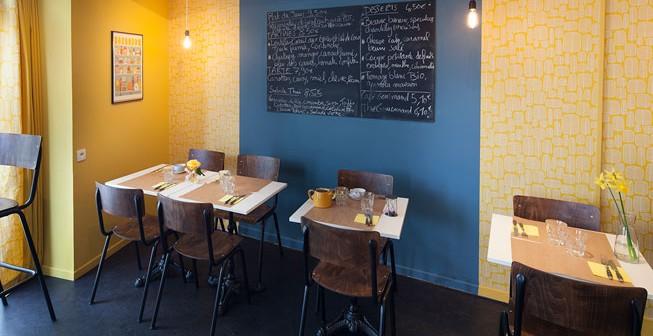 Rénovation salon de thé par Amélie Beaumont, Décoratrice UFDI