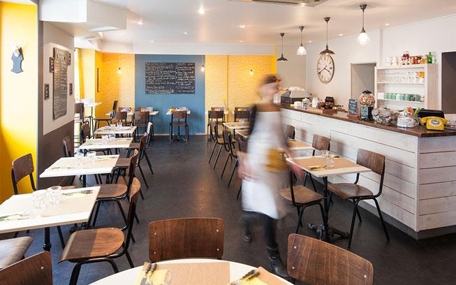 Rénovation d'un Salon de thé à Carquefou par De l'intérieur, Décoratrice UFDI à Nantes 44