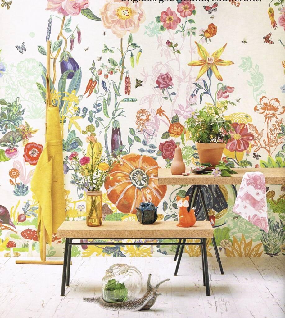 Papier Peint couleur Nathalie Lété édité par Moutache