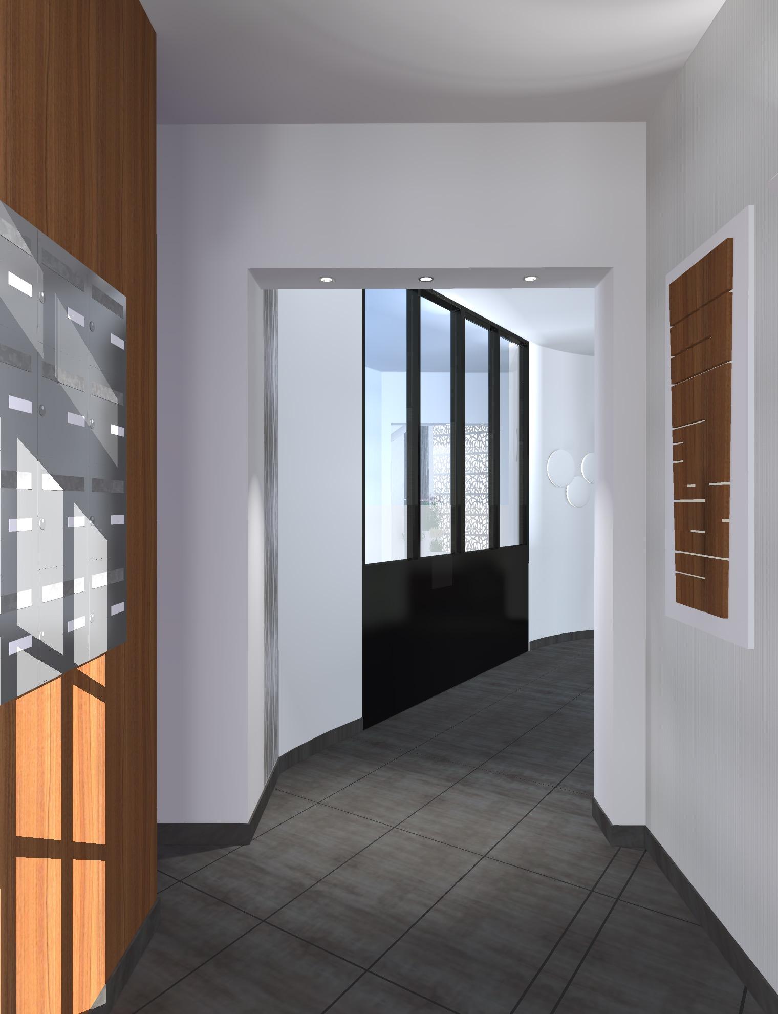 Projet Hall Entrée d'Immeuble