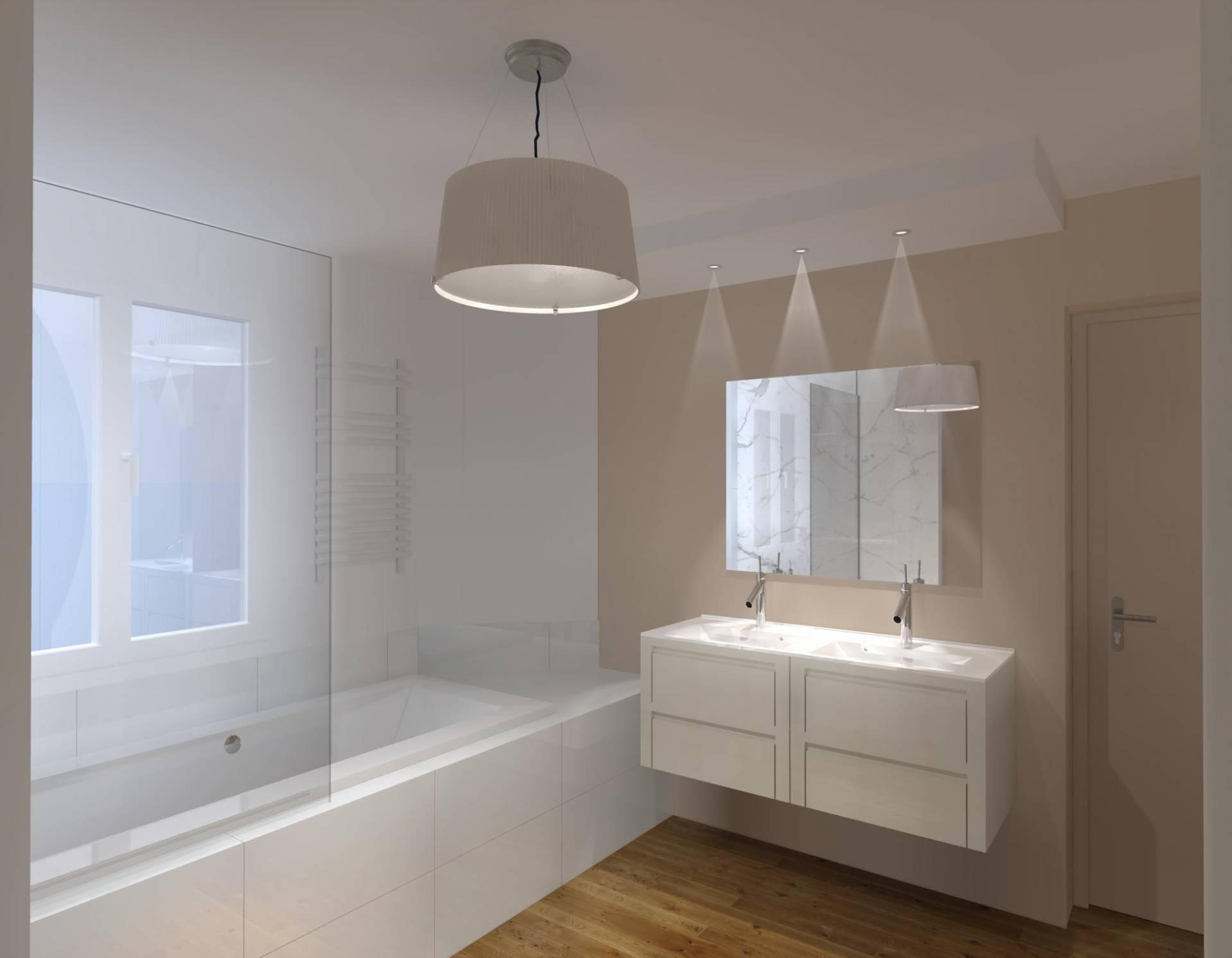 Vue 3D Rénovation Salle de bain Nantes