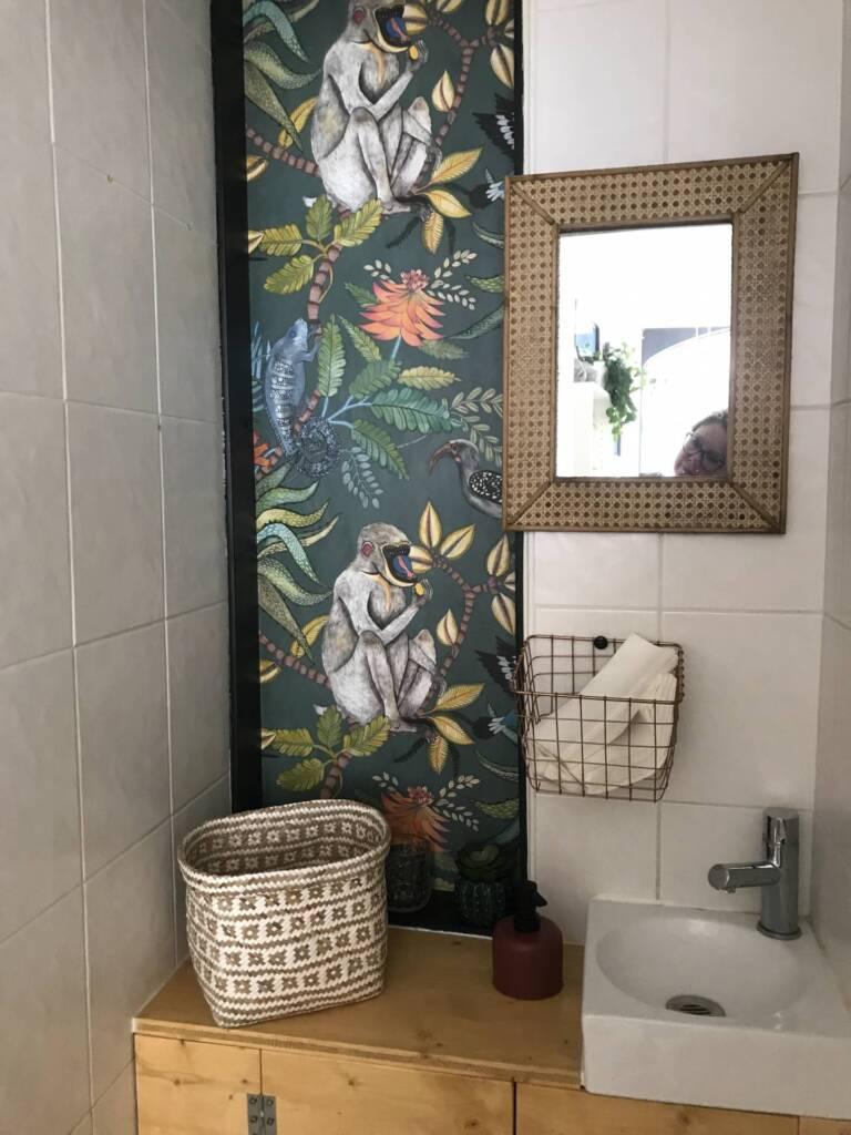 Restaurant Bienvenue à Nantes - Le voyage dans les toilettes, par Amélie Beaumont, Décoratrice UFDI à Nantes et Pays de Loire 44