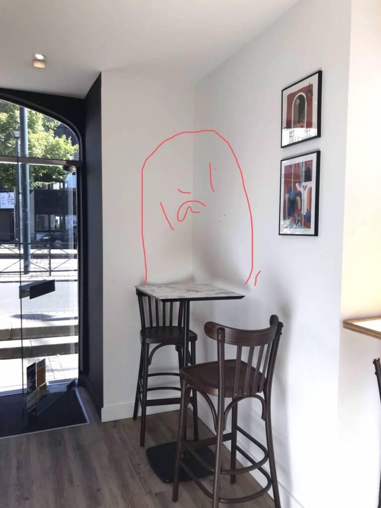 Restaurant Bienvenue à Nantes - Zoning en live sur smartphone, par Amélie Beaumont, Décoratrice UFDI à Nantes et Pays de Loire 44